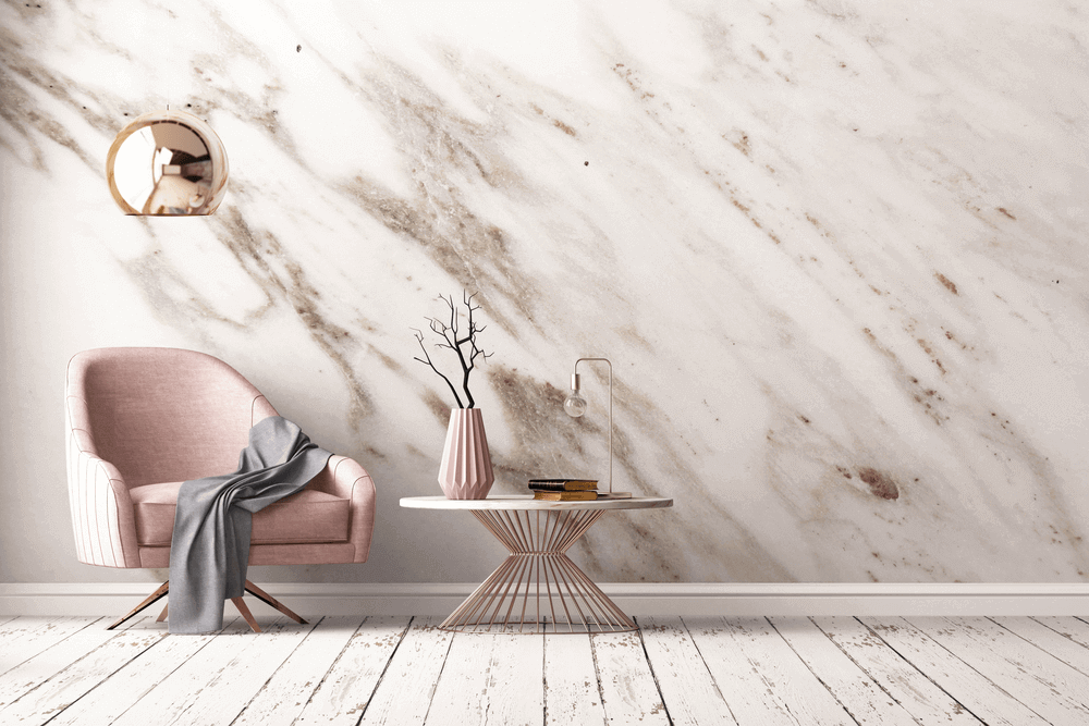 mur en marbre